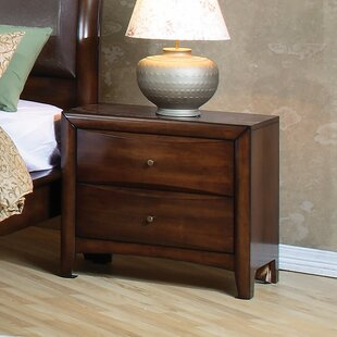 Carnsampson Wooden 2 Drawer Nightstand