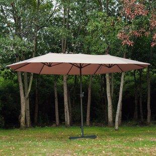 Wymore 8.85' x 15' Rectangular Market Umbrella by Alcott Hill