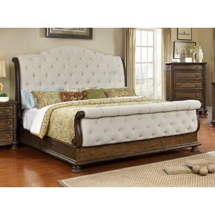 BestMasterFurniture Belle Upholstered Sleigh Bed