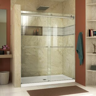Inexpensive Essence 48 x 76 Bypass Semi-Frameless Shower Door with Clearmax™ Technology By DreamLine