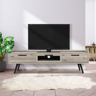 Flint Cabinet/Enclosed Storage Solid Wood TV Stand For TVS Up To 70