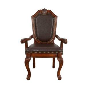 Agatha Chifon Genuine Leather Arm Chair (..
