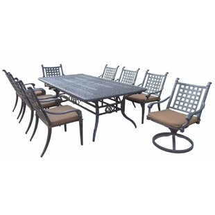 Darby Home Co Arness 12 Piece Dining Set and Lounge Set