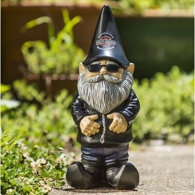 Evergreen Flag & Garden Knucklehead the Harley-Davidson Gnome Statue