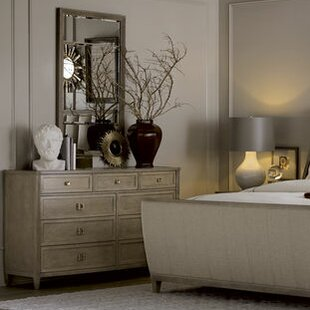 Albright 9 Drawer Double Dresser with Mirror