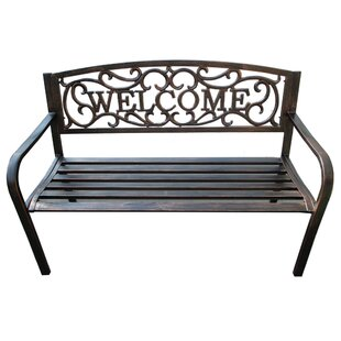 Welcome Metal Garden Bench