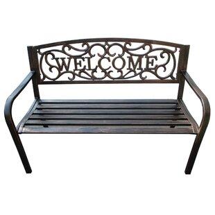 Welcome Metal Garden Bench