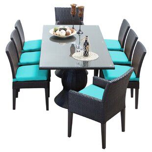 Napa 9 Piece Dining Set with Cushions By TK Classics