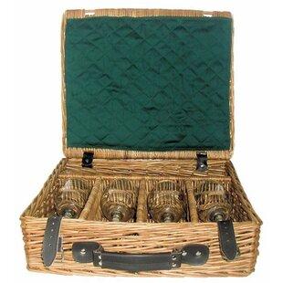 Fine Presentation Drink Wine Basket By Brambly Cottage
