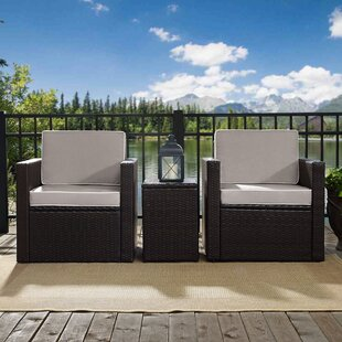 Belton 3 Piece Rattan Seating Group with Cushions