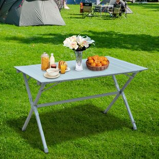 Samee Folding Plastic Camping Table By Sol 72 Outdoor