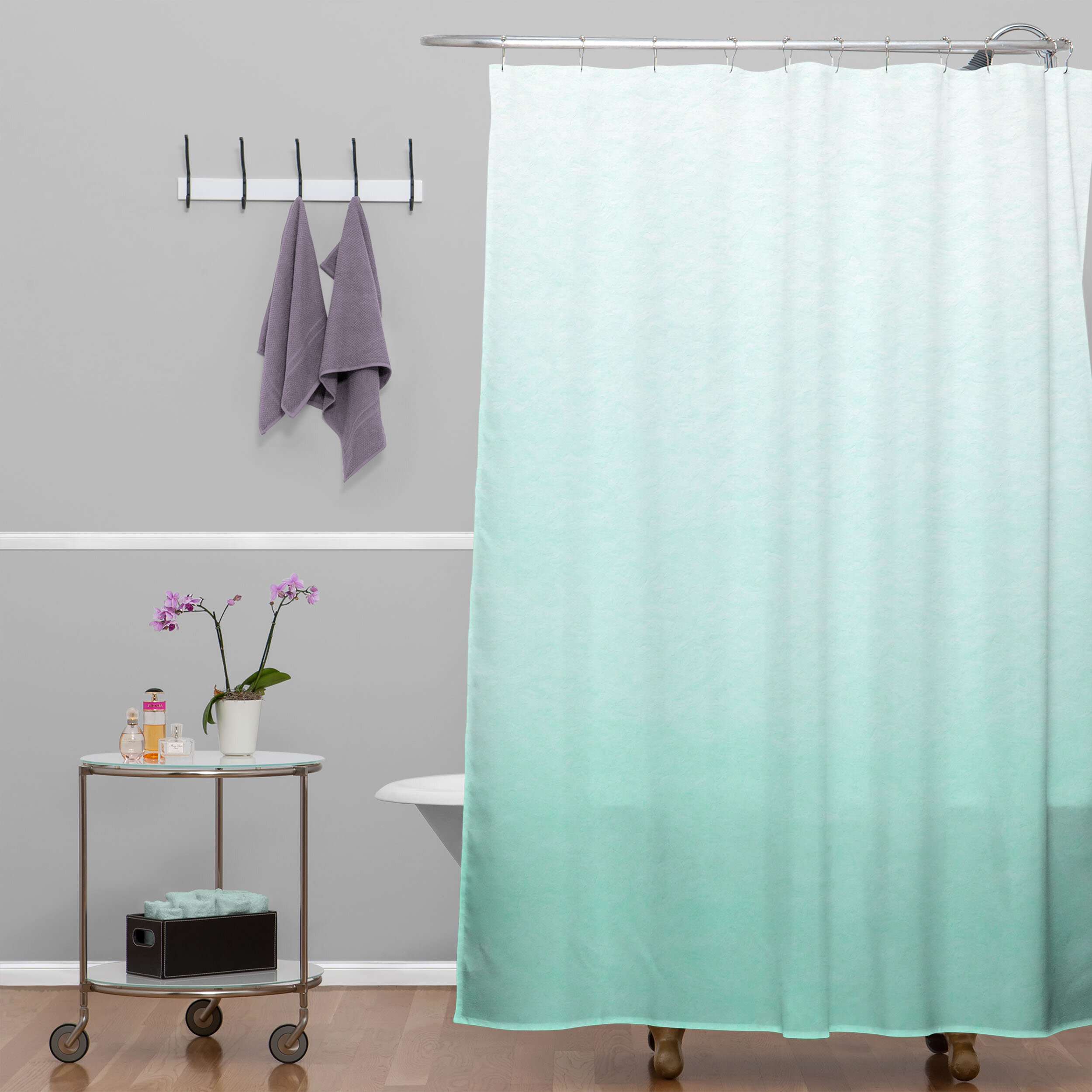 Mint And Grey Shower Curtain.  Brayden Studio Kessinger Mint Ombre Shower Curtain Reviews Wayfair