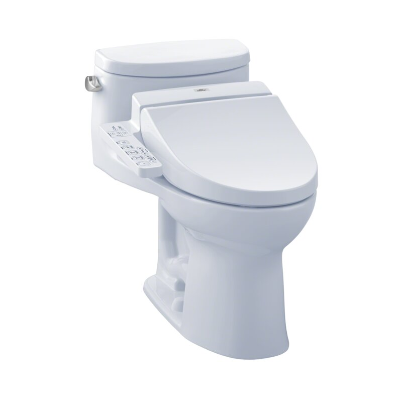 Toto Supreme 1 28 Gpf Elongated Bidet Toilet With C100 Electronic Bidet Seat Reviews Wayfair