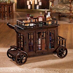 Cranbrook Manor Cordial Carriage Bar Cart by Design Toscano