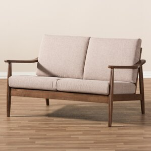 Kellner Mid-Century Modern Loveseat by Union Rustic