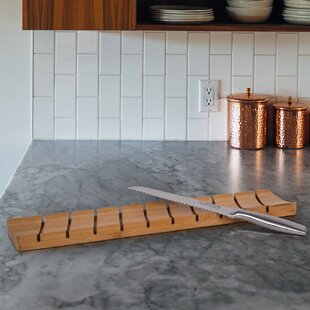 Bamboo Gourmet Cutting Board with Bread Knife ByCTG Brands