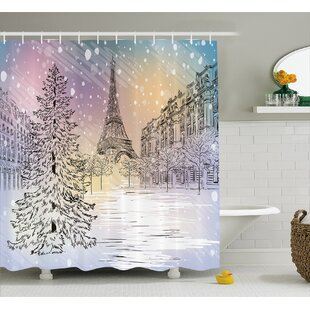 Reviews Louella Winter Ations Image of Stormy Winter Day Shower Curtain ByEbern Designs