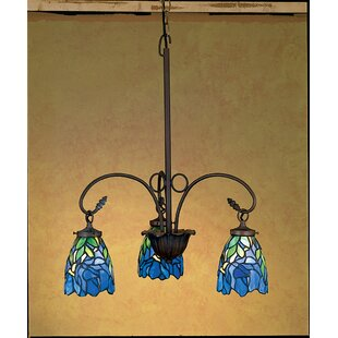 Meyda Tiffany Nouveau Iris 3-Light Shaded Chandelier