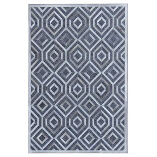 Savings Simeon Hand-Woven Gray/White Area Rug By Brayden Studio