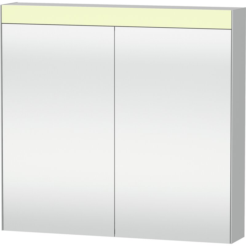 Duravit Surface Mount Frameless 2 Door Medicine Cabinet With Led Lighting Wayfair
