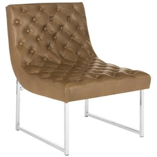 Review Areswell Leather Tufted Lounge Chair by Willa Arlo Interiors