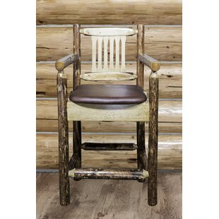 Tustin 24 Bar Stool with Cushion Loon Peak