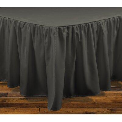 Brielle Stream 15 Bed Skirt Color: Dark Gray, Size: Full