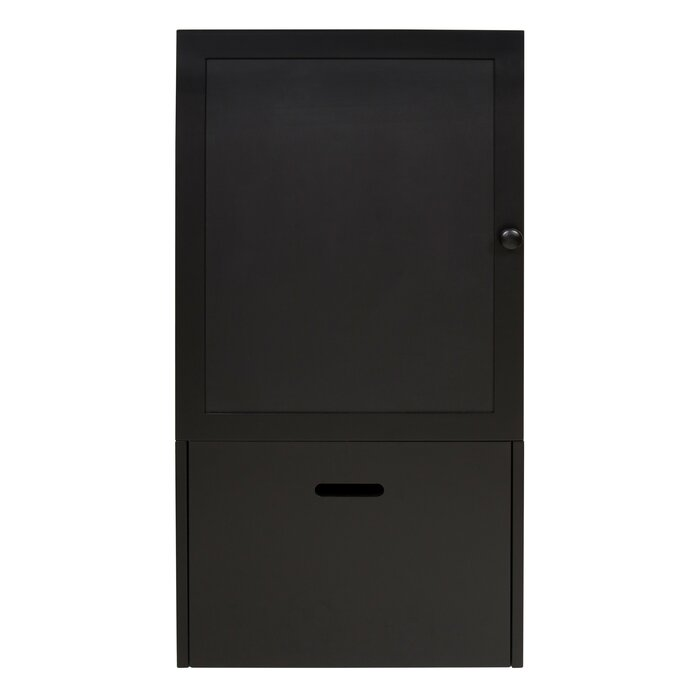 Zonia Storage Cabinet Wall Function Organizer With Magnetic Chalkboard Front And Large Pull Out Drawer