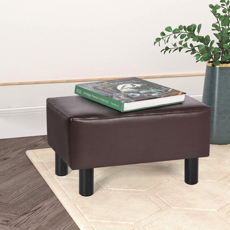 Ebern Designs 11.4'' Wide Velvet Square Footstool Ottoman | Wayfair