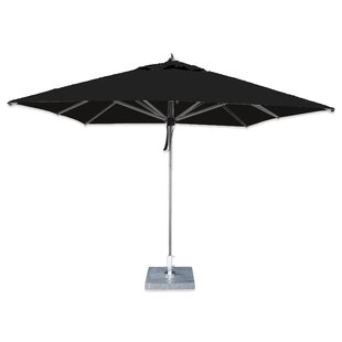 Post 2.6m Square Traditional Parasol By Sol 72 Outdoor