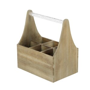Wood/Acrylic 6 Tabletop Wine Bottle Rack by Cole & Grey