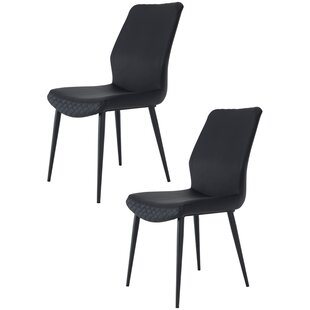 Mono Upholstered Dining Chair (Set of 2) Ivy Bronx