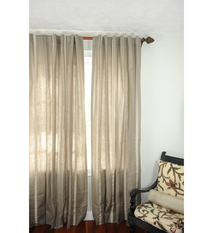 Sorrento Striped Sheer Rod Pocket Single Curtain Panel Joss Main