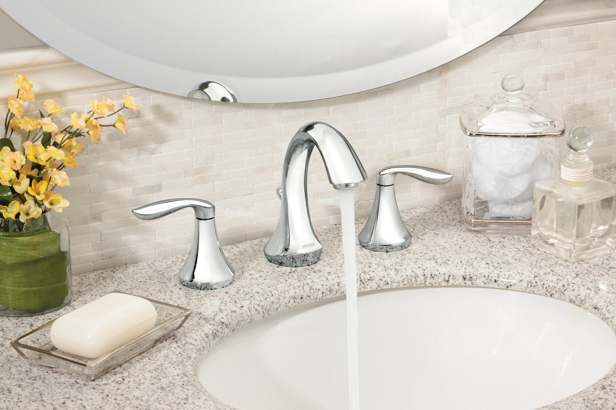 Moen Eva Widespread Bathroom Faucet & Reviews | Wayfair