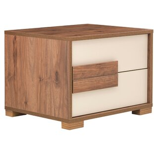 Linsey 2 Drawer Nightstand