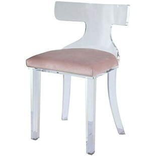 Janay Velvet Upholstered Acrylic Mid Backrest Side Chair by Everly Quinn