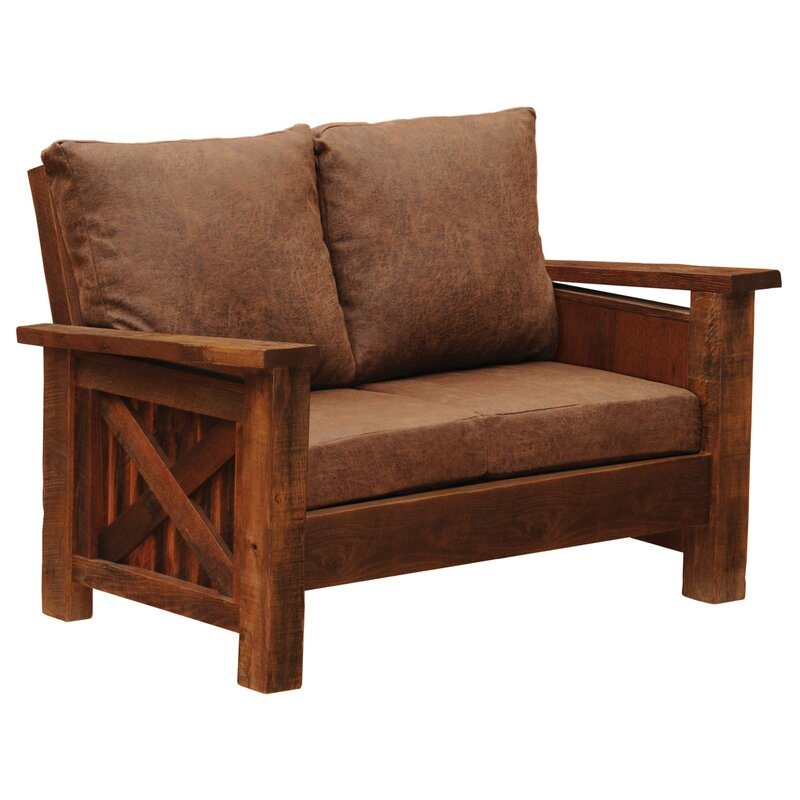 "Hillard 57"" Square Arm Loveseat"