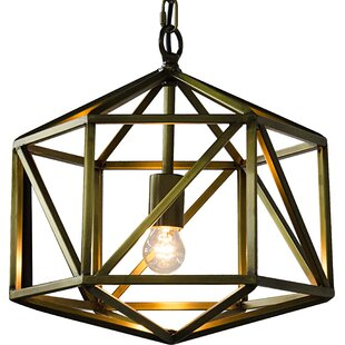 Noir Diamond 1-Light Geometric Pendant