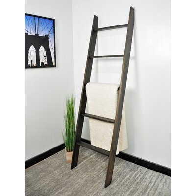 The Twillery Co. 6 ft BlanketLadder Color: Ebony Stain