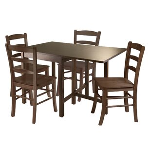 Torrance 5 Piece Drop Leaf Dining Set Red Barrel Studio