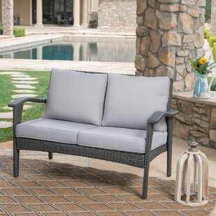 Hagler Outdoor Loveseat with Cushions by Sol 72 Outdoor