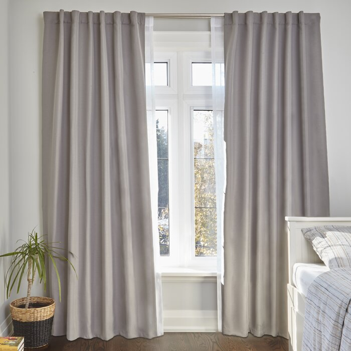 Eider Ivory Bushnell Room Darkening Curtain Double Rod Reviews Wayfair Ca
