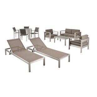Smartt 11 Piece Complete Patio Set with Cushion