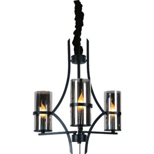 Vanna 3-Light Shaded Chandelier by CWI Lighting