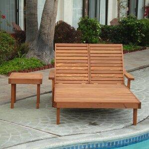 varda rustic double chaise lounge