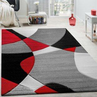 Colt Grey/Red/Black Rug by Longweave