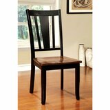Laurelei Slat Back Side Chair in Black (Set of 2) by Winston Porter