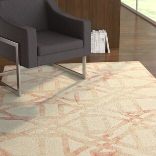 Frederick Hand-Hooked Wool Blush Area Rug by Ebern Designs