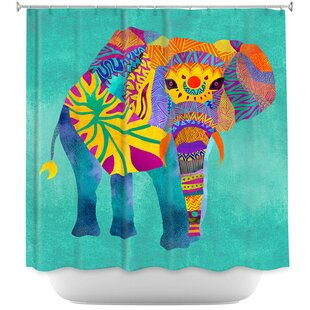 Wiechmann Whimsical Elephant Single Shower Curtain