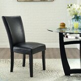 Akila Upholstered Parsons Chair in Black (Set of 2) by Red Barrel Studio®